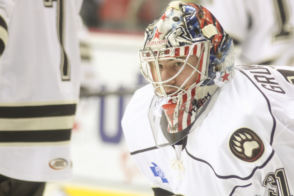 Hershey Bears philipp grubauer new mask-1