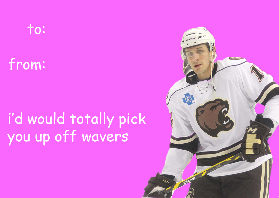 Hershey Bears Themed Valentines Day Cards – Hockey Valentine Cards